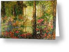The Garden Of Enchantment Greeting Card by Thomas Edwin Mostyn