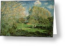 The Garden Of Hoschede Family Greeting Card