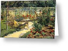 The Garden Of Manet Greeting Card