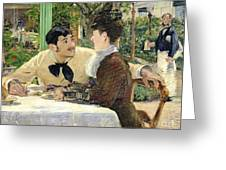 The Garden Of Pere Lathuille Greeting Card by Edouard Manet