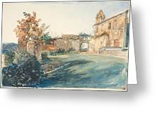 The Garden Of San Miniato Near Florence Greeting Card