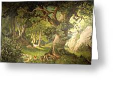 The Garden Of The Magician Klingsor, From The Parzival Cycle, Great Music Room Greeting Card