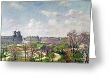 The Garden Of The Tuileries Greeting Card