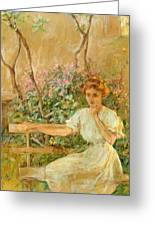The Garden Seat 1911 Greeting Card