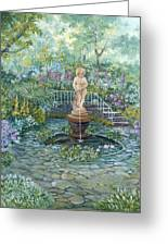 The Garden Triptych Middle Painting Greeting Card