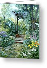 The Garden Triptych Right Side Greeting Card