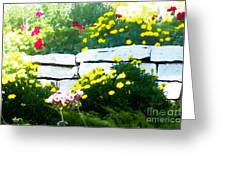 The Garden Wall Greeting Card