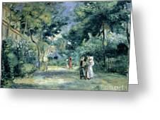 The Gardens In Montmartre Greeting Card by Pierre Auguste Renoir