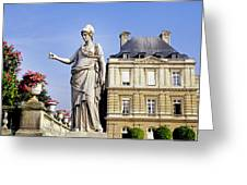 The Gardens Of Luxembourg Palace, Paris Greeting Card