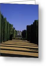 The Gardens Of The Alcazar Of Catholic Greeting Card