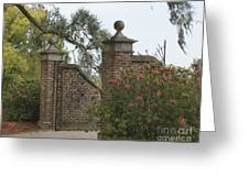 The Gate At Boone Hall Greeting Card