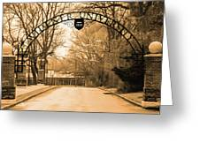 The Gate At Widener University Greeting Card
