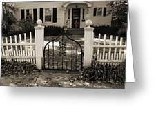 The Gate The Pumkin Greeting Card