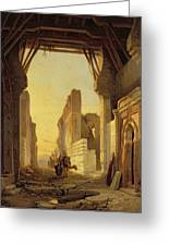 The Gates Of El Geber In Morocco Greeting Card by Francois Antoine Bossuet