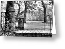 The Gates Of The Old Sheldon Church Greeting Card