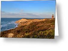 The Gay Head Cliffs In Autumn Greeting Card