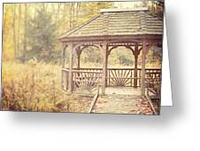 The Gazebo In The Woods Greeting Card by Lisa Russo