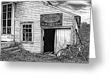 The General Store Bw Greeting Card