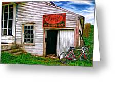 The General Store Painted Greeting Card