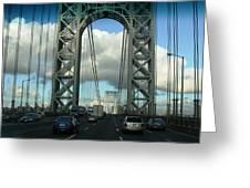 The George Washington Bridge  Greeting Card
