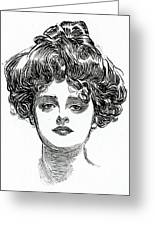 The Gibson Girl Greeting Card