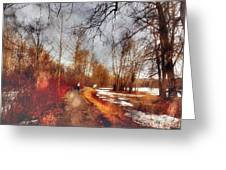 The Girl On The Path Greeting Card
