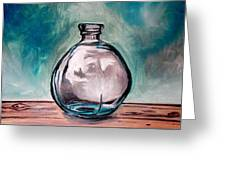 The Glass Bottle Greeting Card