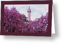 The Glory Of Spring In Mount Vernon Place, Baltimore Greeting Card
