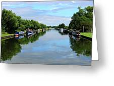 The Gloucester And Sharpness Canal Greeting Card