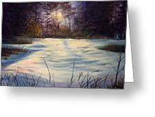 The Glow Of Winter Greeting Card