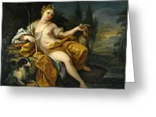 The Goddess Diana Greeting Card