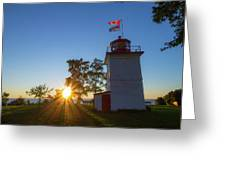 The Goderich Lighthouse At Sunset Greeting Card
