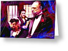 The Godfather Kiss Greeting Card