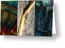 The Gods Triptych 2 Greeting Card by Ken Walker