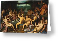 The Golden Age Bacchanal Or The Garden Of Love 1614 Greeting Card