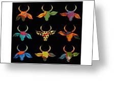 The Golden Bull Greeting Card