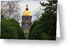 The Golden Dome Greeting Card