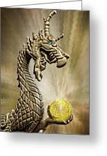 The Golden Dragon Greeting Card