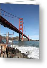 The Golden Gate Bridge At Fort Point - 5d21473 Greeting Card