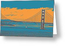 The Golden Gate Bridge In Sfo California Travel Poster Greeting Card