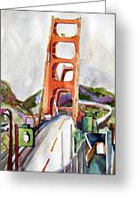 The Golden Gate Bridge San Francisco Greeting Card