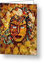 The Golden Goddess Greeting Card