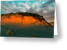The Golden Hour Illuminating The Dunes Greeting Card