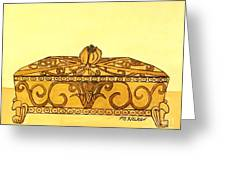 The Golden Jewelry Box Greeting Card