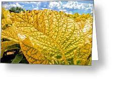 The Golden Leaf Greeting Card