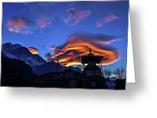The Golden Light Of Nepal Greeting Card