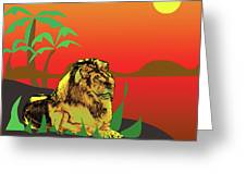 The Golden Lion Greeting Card