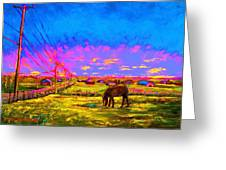 The Golden Meadow Greeting Card