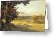 The Golden Valley Greeting Card by Sir Alfred East