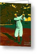 The Golfer - 20130208 Greeting Card by Wingsdomain Art and Photography